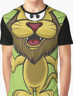 Cartoon pretty lion Graphic T-Shirt
