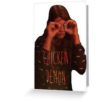 Chicken Demon Greeting Card