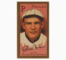 Benjamin K Edwards Collection John W Bates Philadelphia Phillies baseball card portrait One Piece - Short Sleeve