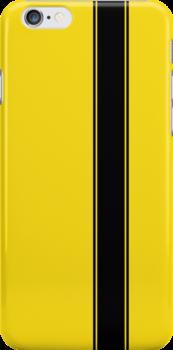 Racing Stripe - Black on Yellow by ubiquitoid