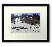 Skiing in Snow, Himalayas Framed Print