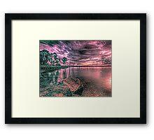 A storm over Leslie Framed Print