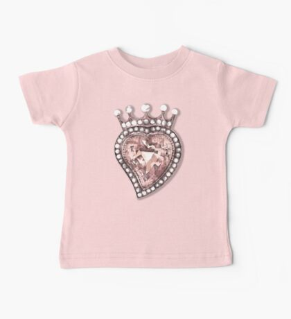 Beloved Pearly Heart Baby Tee