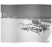 Cancun beach chairs Poster