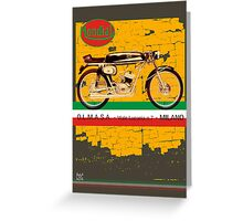 mondial cafe racer Greeting Card