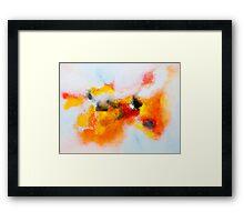 Orange voyage Framed Print