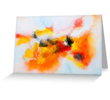 Orange voyage Greeting Card