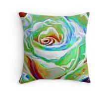 Painterly Rose Throw Pillow