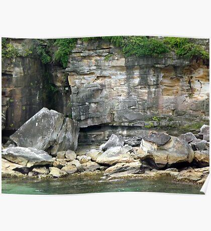 Inlet cliffs Poster