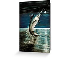 Moonlit Marlin Greeting Card