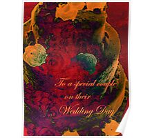 WEDDING CARD. Poster