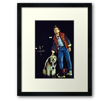 marty mcfly back to the future Framed Print