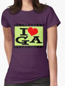 I love Georgia Womens Fitted T-Shirt