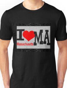 I love Massachusetts Unisex T-Shirt