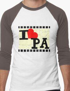 I love Pennsylvania Men's Baseball ¾ T-Shirt