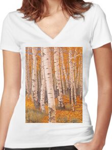 Autumn Eyes Women's Fitted V-Neck T-Shirt