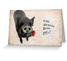 Pig Valentine Greeting Card
