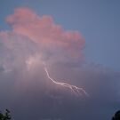 Lightning inside a stormcloud  by Anne-Marie Ladegaard