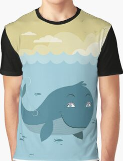 Whale at sea Graphic T-Shirt