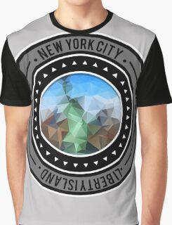 Geometric New York Cityscape  Graphic T-Shirt