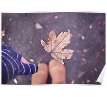 Autumn in my hand Poster