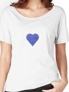halftone heartblue Women's Relaxed Fit T-Shirt
