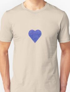 halftone heartblue Unisex T-Shirt