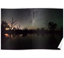 Comet Lovejoy Swamp Reflections Poster