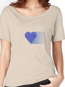 halftone heartblue fade Women's Relaxed Fit T-Shirt