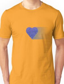 halftone heartblue fade Unisex T-Shirt