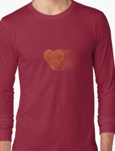 halftone heartfade Long Sleeve T-Shirt
