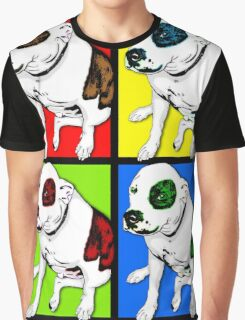 Colorful Pop Art Pit Bull Graphic T-Shirt