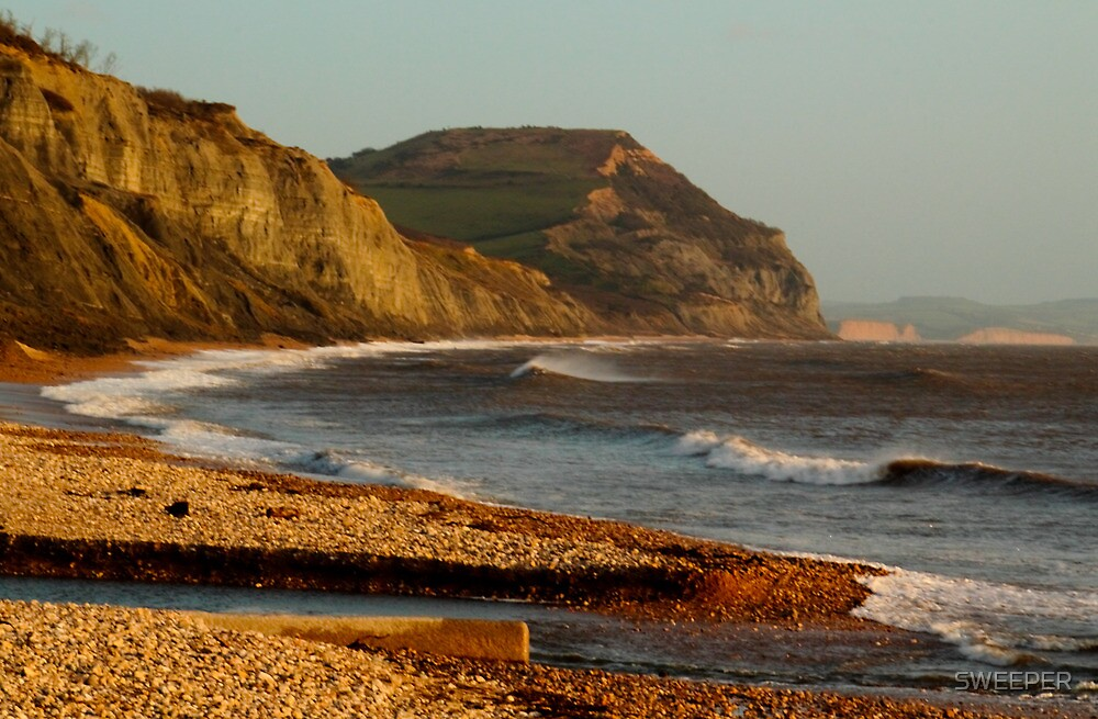 Jurassic coast at Golden Cap by SWEEPER