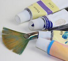 Brush with Acrylic by RosiLorz