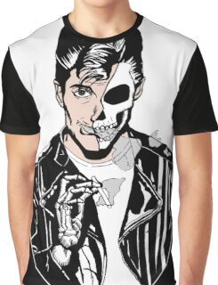 Alex Turner Skull Art Graphic T-Shirt