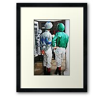 Watching the race Framed Print