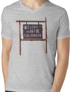 welcome to colorful colorado Mens V-Neck T-Shirt