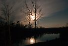 Moon Set In The Lake by barnsis