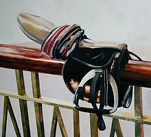Racing Saddle by samcannonart