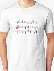 Colourful Violin Notes Unisex T-Shirt