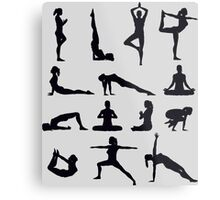 Yoga Poses Merchandise Metal Print
