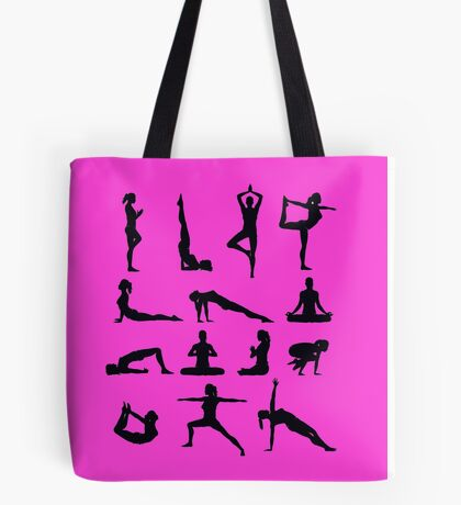 Yoga Poses Merchandise Tote Bag