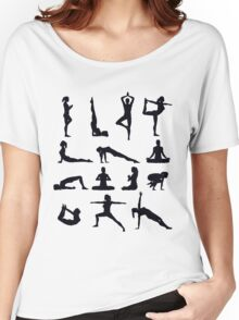 Yoga Poses Merchandise Women's Relaxed Fit T-Shirt