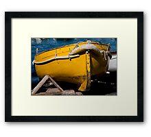 Yellow Skiff Of Capri Framed Print