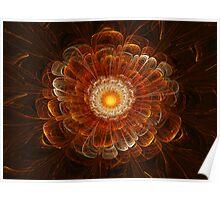 Orange 3D Bloom Poster