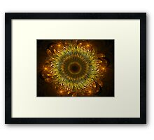 3D Bloom Sunflower Framed Print