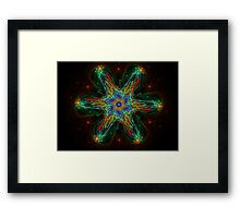 Colorful 3D Bloom Framed Print