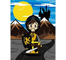 Cute Medieval Crusader Knight  Photographic Print