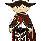 Cute Cowboy Sheriff in Poncho by MurphyCreative