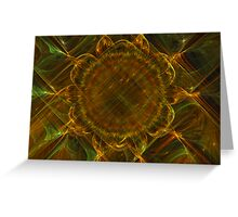 Plaided Sunflower Bloom Greeting Card